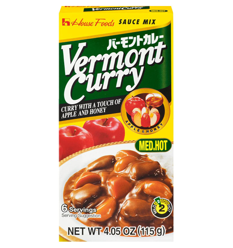 House Foods Vermont Curry Med. Hot 115g